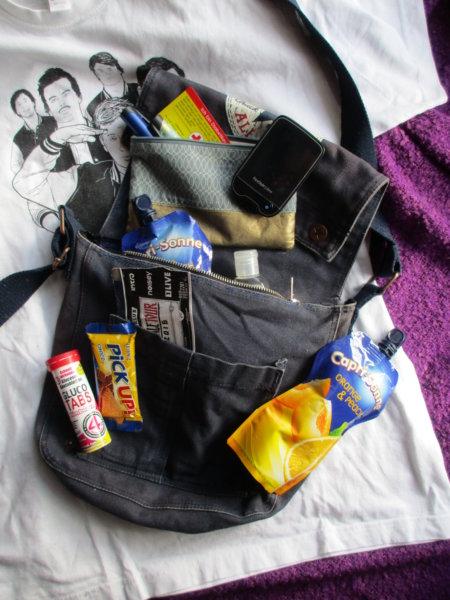 Die Diabetes-Tasche ist immer mit dabei.