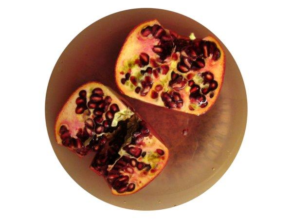 Granatapfel-Hälften