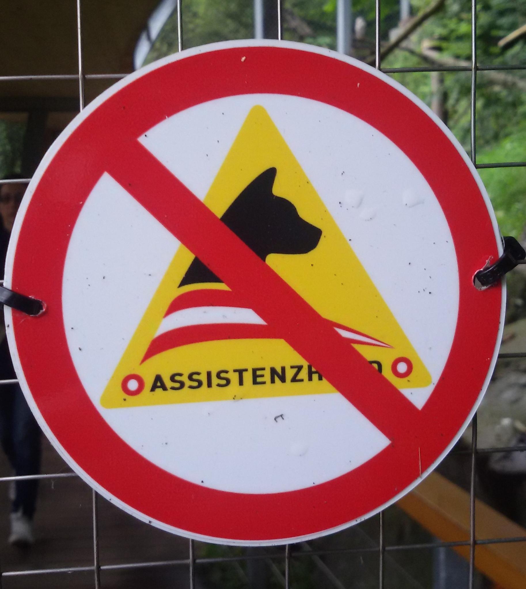 Assistenzhunde verboten, Zoo