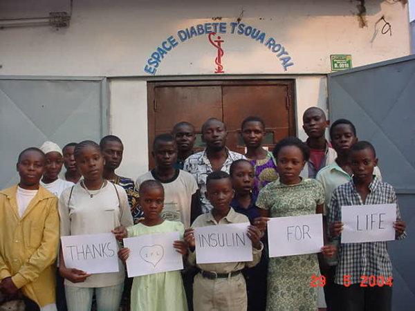 "Danke an ""Insulin zum Leben"" (Insulin for Life) – in Brazzaville (Kongo)."