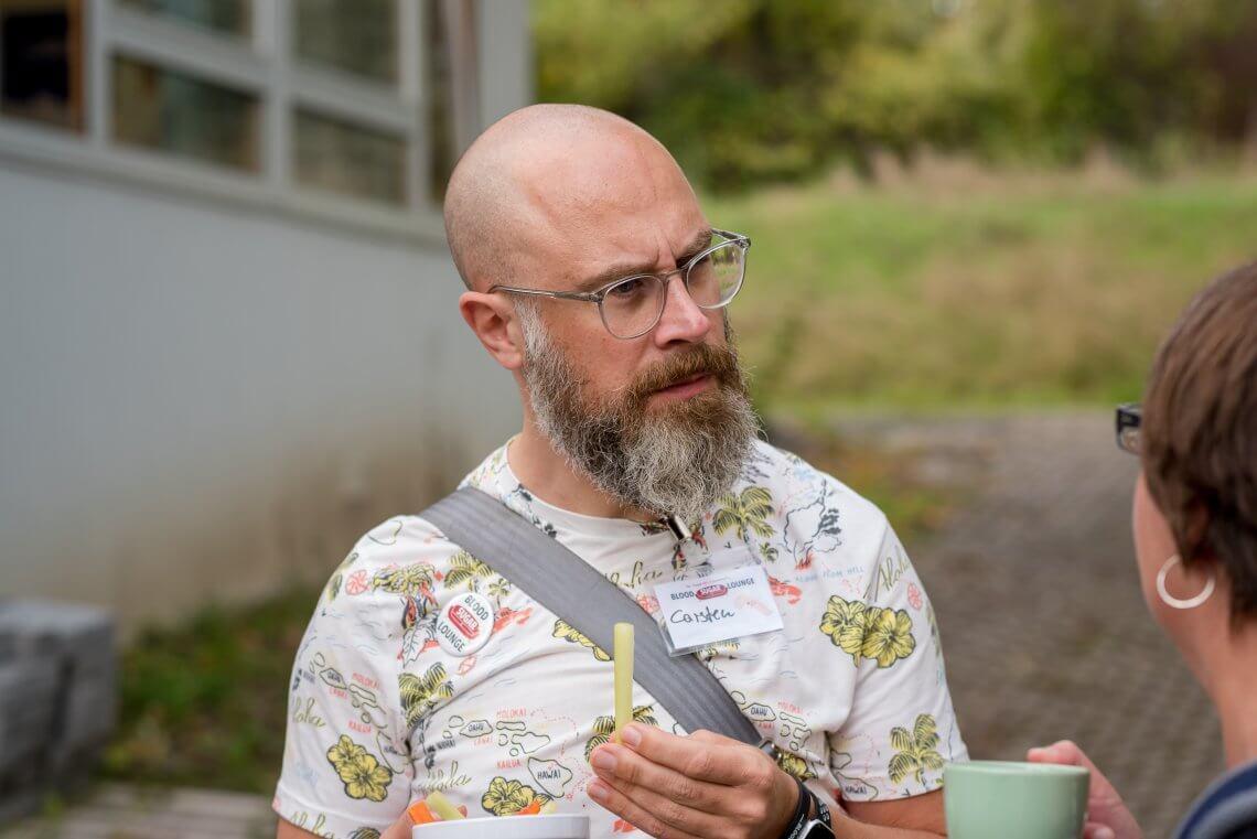 Carsten ins Ges auf dem Diabetes-Hypo-Barcamp der Blood Sugar Lounge