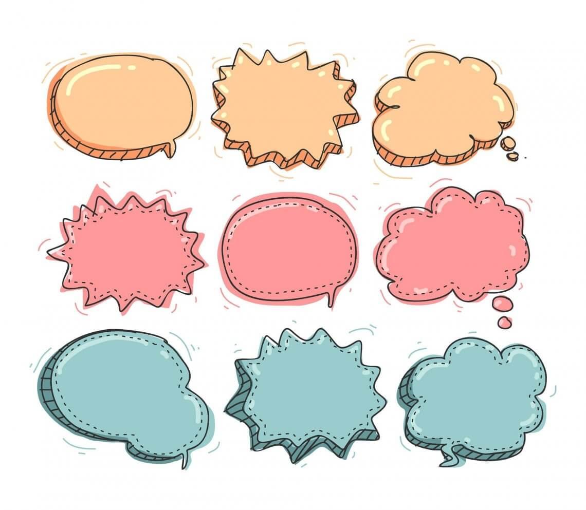 leere Sprachblasen