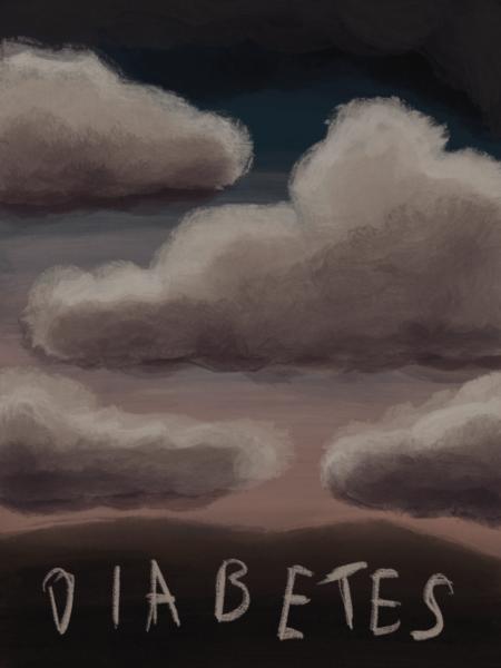 Dunkle Wolken im Leben mit Diabetes