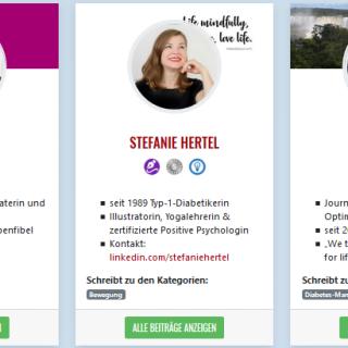 Screenshot Profile: Ulrike Thurm, Stefanie Hertel, Susanne Löw