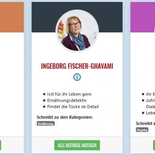 Screenshots Profile: Nicole Jäger, Ingeborg Fischer-Ghavami, Ina Manthey