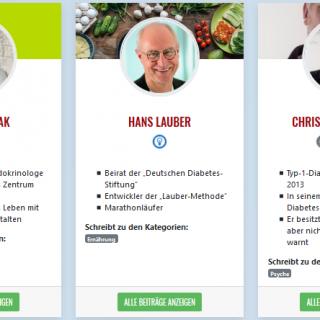 Screenshot Profile: Thomas Haak, Hans Lauber, Christian Purschke