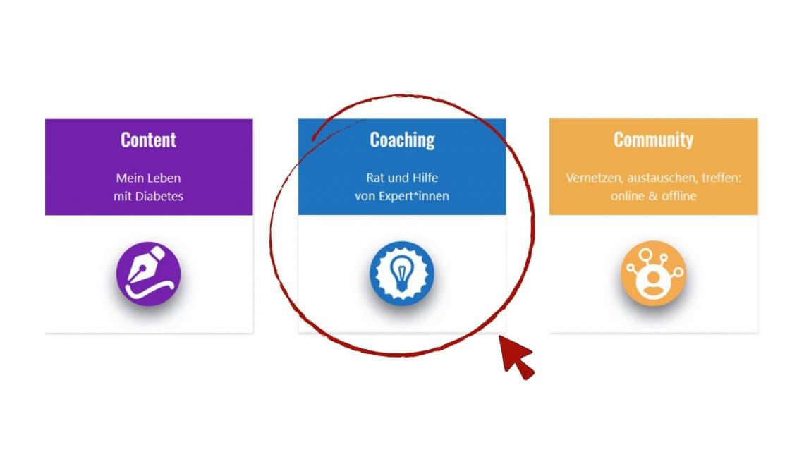 die drei Säulen: Content, Coaching, Community