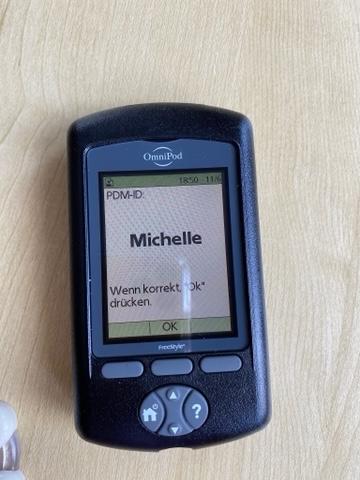 OmniPod Benutzeroberfläche: Michelle